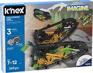 K'NEX 13127 Imagine, 4WD Crusher Tank Building Set Engineering Educational Toy, 249 Pieces £8.75 (Prime) + £4.49 delivery non Prime @ Amazon