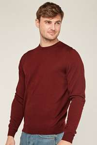 Merino Wool Jumper in burgundy £5 + £3.95 p+p at everything5pounds.com - ex M&S Jumper