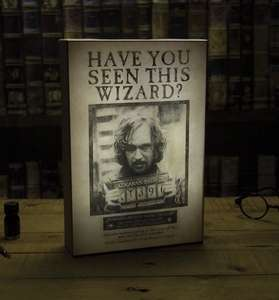 Harry Potter Sirius Black Luminart canvas £10.98 Delivered at the gift and gadget store