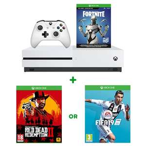 Xbox One S 1TB Fortnite Bundle & Red Dead Redemption 2 OR FIFA 19 £219.99 @ Smyths Toys