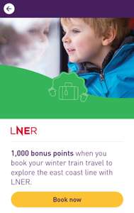 1000 Bonus Nectar Points When You Purchase A Ticket Through LNER Trains