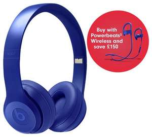 Beats by Dre Solo 3 On-Ear Wireless Headphones and get free Power Beats (worth £149.45) at Argos for £249.95