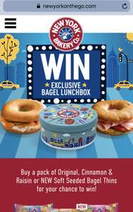 New York Bagel Lunchbox Tin when you buy New York Bakery Thins £1