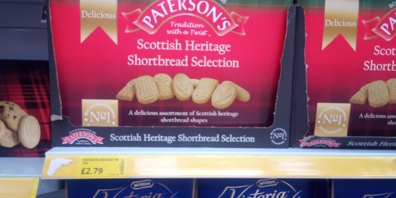 Pattersons Scottish Herritage Shortbread Selection. Huge 1 Kilo box, £2.79 Poundstretcher