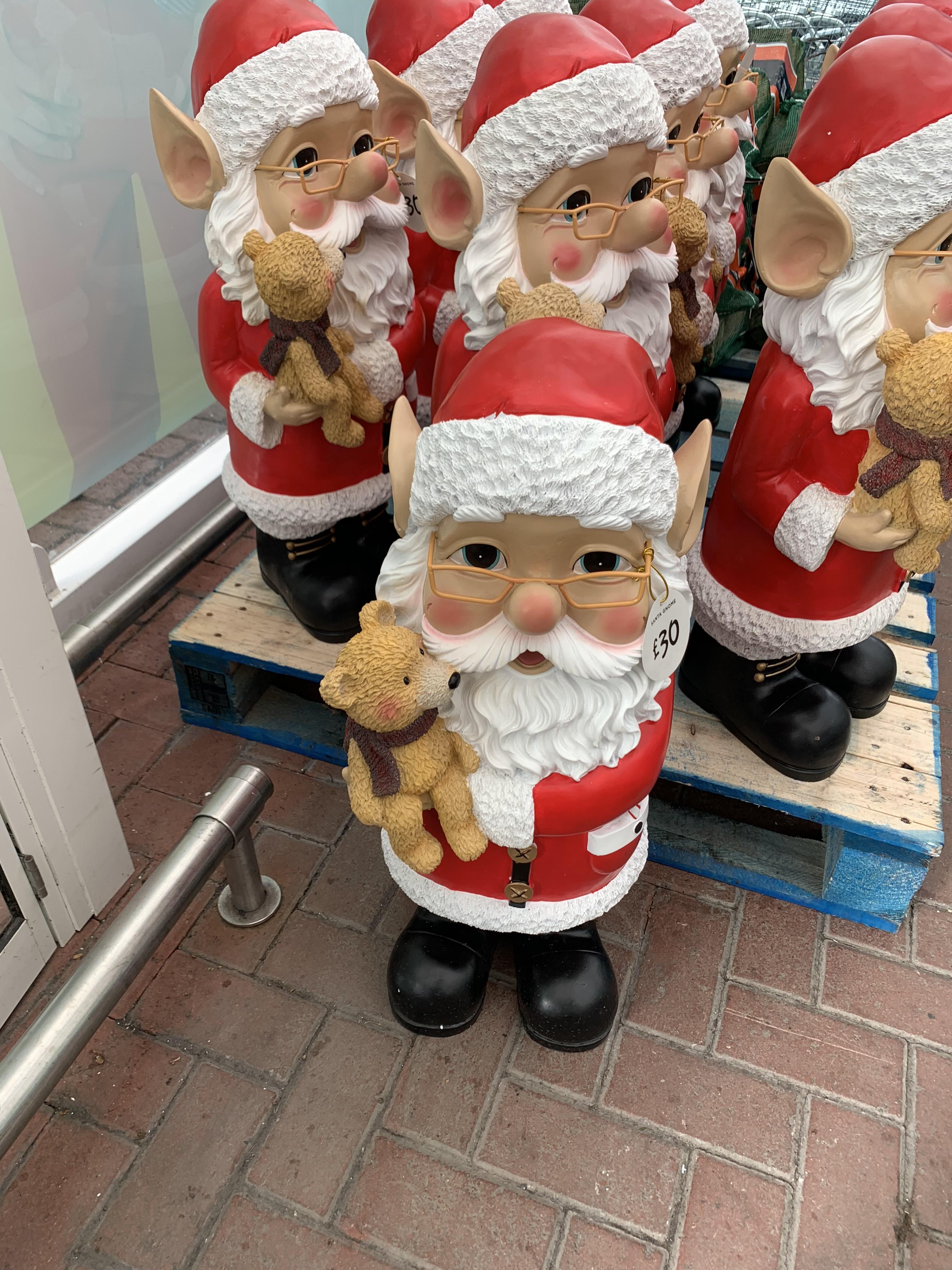 Santa Gnomes instore at Asda Cardff for £30