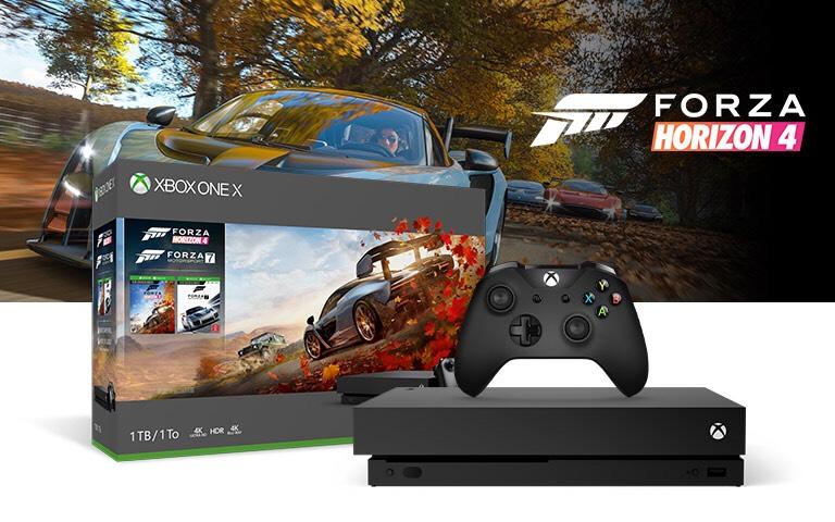 Xbox one x + forza 4 + forza 7 - £339.99 @ Xbox Store
