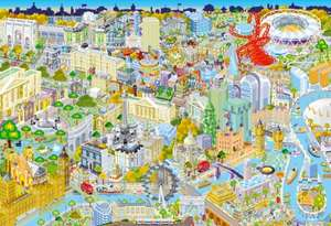 Gibsons London from Above Jigsaw Puzzle, 500 piece @ Amazon - £8.76 Prime / £13.25 non-Prime