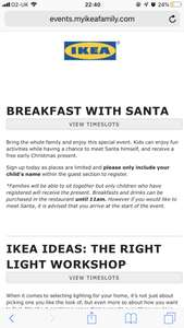 Breakfast with Santa at IKEA includes a free gift for children (IKEA Family members)