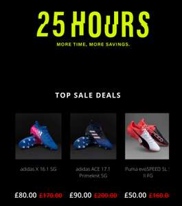 Pro:direct massive sale for 25 hours (football boots, shirts, equipment etc)