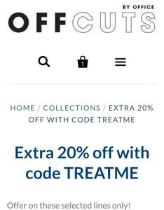 Extra 20% off with code @ Offcuts By Office