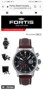 40% Off this Fortis Flieger watch! Was £1500 now £900 @ CW Sellors