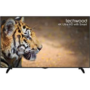 "Techwood 65AO6USB 65"" Smart 4K Ultra HD TV with Freeview Play - Black - [A+ Rated]"