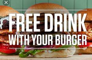 Free soft drink with Sizzling Pub burger meal... £4.99.. Even cheaper with £5 off £15 spend voucher.