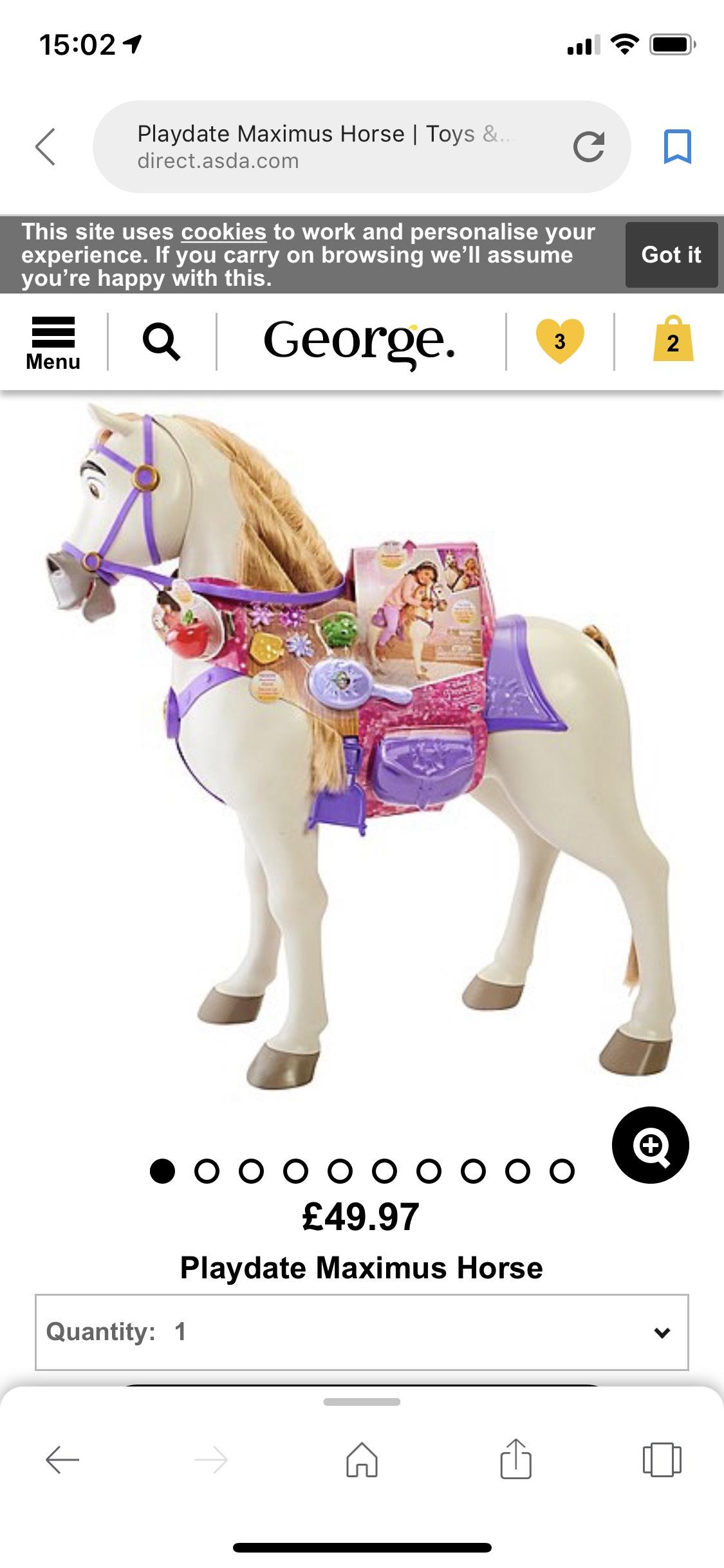 Playdate maximus horse £49.97 / £55.92 delivered george asda