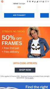 50% off Frames + Free second pair & free delivery at Glasses Direct