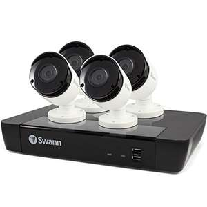 Swann 8 Channel Security System: 5MP Super HD NVR-7450 with 2TB HDD & 4 x 5MP NHD-855 Bullet Cameras - Pack of 4 - £479.53 Amazon