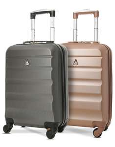 2x Aerolite Super Lightweight ABS Hard Shell Hand Luggage Suitcase with 4 Wheels (5 colours) £39.99 delivered at Travel Luggage & Cabin Bags