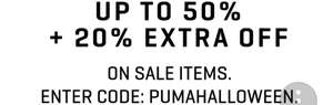 PUMA Sale upto 50% off + extra 20% off with code