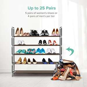 Sable Shoe Rack, 5 tiers for 25 pairs of shoes - £2 Prime (£6.49 non-Prime) Sold by Sunvalleytek-UK and Fulfilled by Amazon
