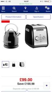 Kitchen Aid Traditional Kettle & Toaster Bundle - Onyx Black £99 @ Currys