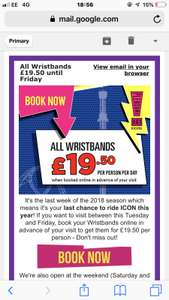 Blackpool pleasure beach wristbands only £19.50 per person this week only. **booking online only**