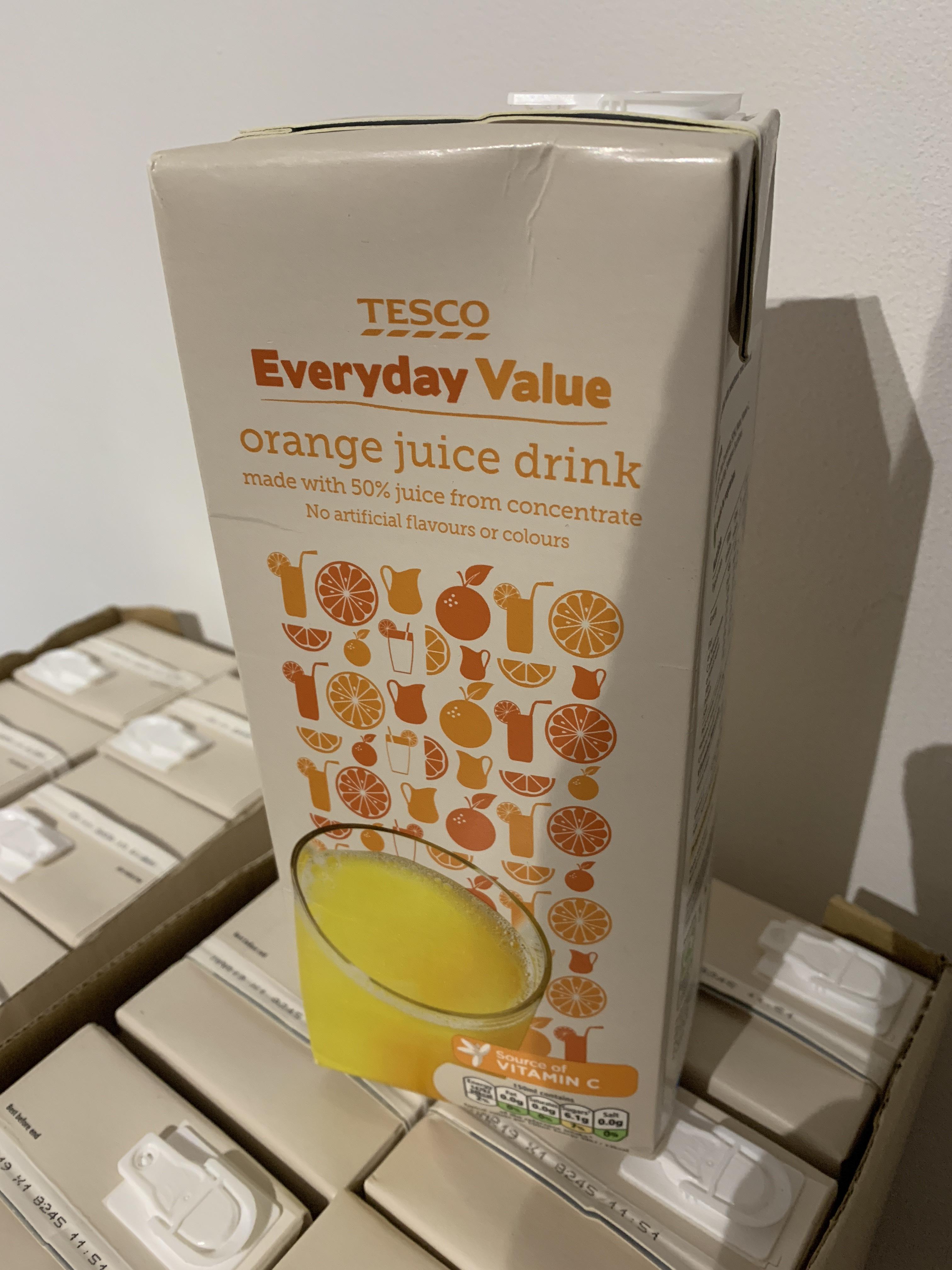 Tesco Everyday Value Orange Juice Drink 1.5L 37p instore