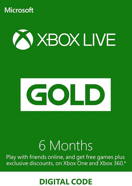 6 Month Xbox live £17.49 at cdkeys