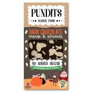 Pundits Dark Chocolate - Orange & Almonds 100g(Pack of 12) @ Amazon Prime £12.09 Prime £16.58 Non Prime
