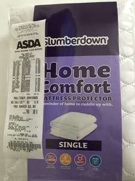 Slumberdown Home Comfort Mattress Protector (Single) for 30p @ Asda