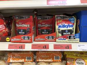 £5.99 Sky store voucher when purchasing 4 packs of Nestle Munchies or Milky Bar Buttons £1 each in store at Sainsbury's Hinckley