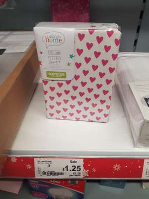 Toddler bed fitted sheet £1.25 @ Asda instore