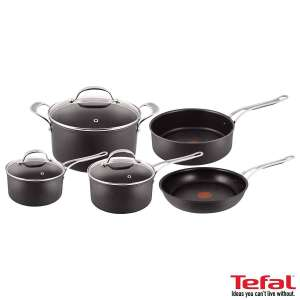 Jamie Oliver by Tefal Hard Anodised Induction 5 Piece Cookware Set (Costco members only)