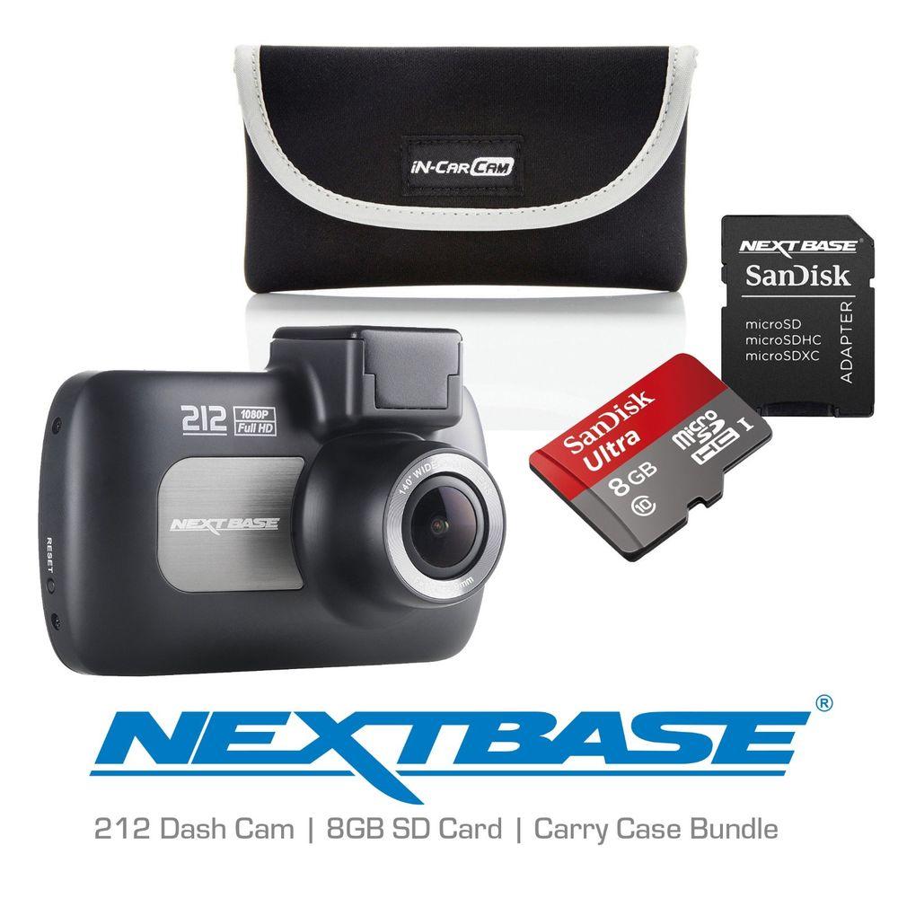 Nextbase 212 Professional Car Dash Dashboard Camera SD Card and Case Bundle £49.95 @ eBay velocityelectronics