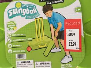 Cricket set for kids ages 3+ all surface @ Aldi Chapel Allerton Leeds