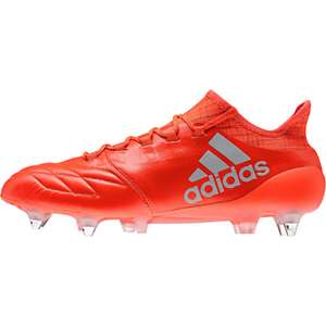 adidas X 16.1 Leather Soft Ground Mens Football Boots - Red £69 @ Start Fitness