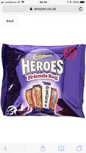 Cadbury Friends Heroes Treatsize Packs, 225 g, Pack of 7 £10.50 (Prime) / £14.99 (non Prime) at Amazon