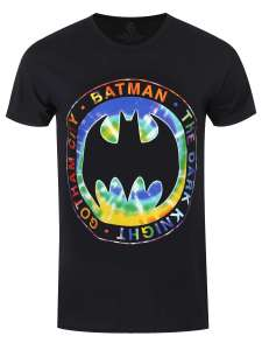 DC Comics Official Batman Tie Dye Logo Men's Black T-Shirt was £15.99 now £7.99 @ Grindstore. P+P £1.25