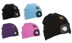 Discovery Adventures Adults' or Kids' LED Torch Beanies £5.99 / £7.98 delivered @ Groupon