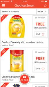 FREE Canderel sweetely 300 tablets (£3) and 125g canister sugar (£2.50) @ Tesco via checkoutsmart