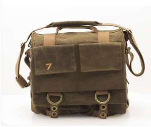 7dayshop Canvas Photographers Messenger Shoulder Bag £18.99