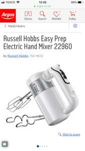 Russell Hobbs Easy Prep Electric Hand Mixer ARGOS 22960 £19.99 was £39.99