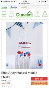 Ship ahoy mobile now £6 + £3.95 delivery at Dunelm
