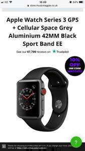Apple Watch series 3 gps cellular (Refurbished Good) £215.99 @ Music magpie