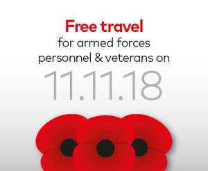 Free Travel in First Wessex Dorset & South Somerset  for Current and former army personnel Armistice Day, Sunday 11 November @ First Wessex