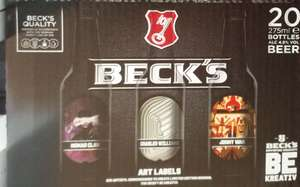 """Special Edition """"Art Labels"""" Collection, Becks Lager, 4.8%Vol, 20 x 275ml (£1.82 per litre) Co-Op - £10"""
