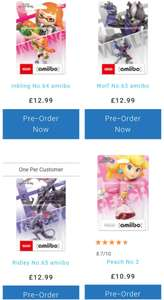 New Smash Bros Amiibo Preorders (Wolf, Splatoon Girl, Ridley) £12.99 (+£1.99 Delivery under £20) - Nintendo Store