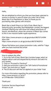 Amazon £5 off Call of Duty Black ops 4 (Check your emails)