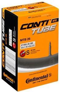 "Continental Presta Valve Type Mountain Bike Inner Tube - 26"" x 1.75"" - 2.5"" - £2.59 + Free C&C @ halfords eBay"