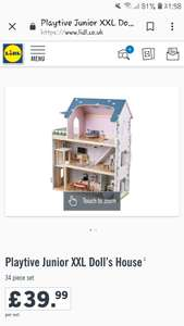 Lidl Junior XXL Wooden dolls house with working lights £39.99