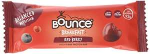 Bounce Breakfast Red Berry High Fibre Protein Bar 45g (Pack of 20) £12.37 (Prime) + £4.49 delivery @ Amazon